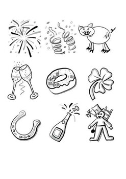 Happy New Year 2020 Word Search and Coloring Page by ...