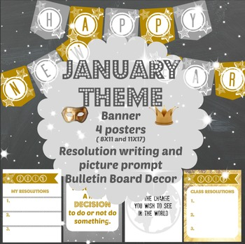 Happy New Year- Banner, Posters, Resolutions