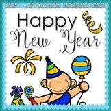 Happy New Year (5-day Thematic Unit) Preschool Pre-K Kindergarten Curriculum