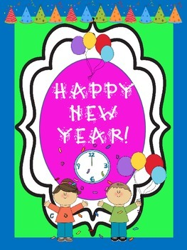 Happy New Year (A Fun Booklet of Activities to Begin a New Calendar Year)