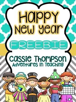Happy New Year: A Math and Literacy- FREEBIE