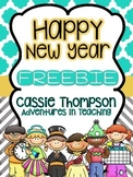 Happy New Year: A Math and Literacy- FREEBIE