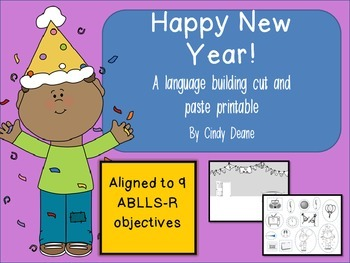 Happy New Year: A language building cut and  paste printable