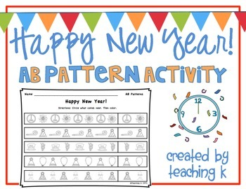 Happy New Year AB Pattern Activity