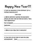 Happy New Year Activity  - 2015