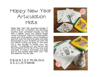Happy New Year: Articulation Party Hats