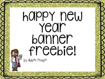 Happy New Year Banner Freebie