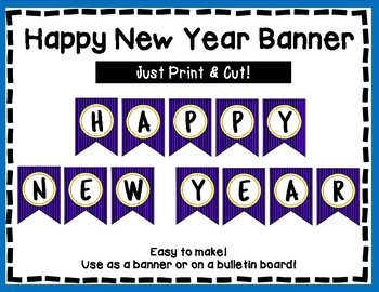 Happy New Year Banner - New Year Bulletin Board