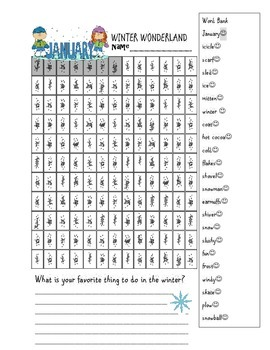 Happy New Year Book and Free Winter Wordsearch
