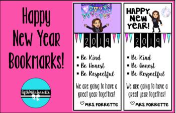 Happy New Year Bookmark