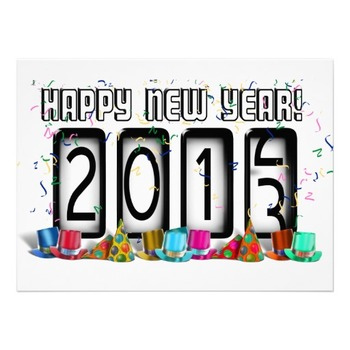 Happy New Year Bookmarks 2013