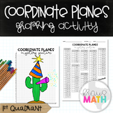 Happy New Year Cactus Coordinate Plane Graphing Activity: Holiday Math!