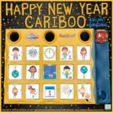 Cariboo for the New Year  {for WH- questions & language therapy}