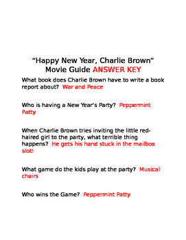 Happy New Year, Charlie Brown Movie Questions