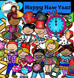Happy New Year Clip Art- Colorful Theme Party