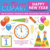 Happy New Year Clip Art (Digital Use Ok!)