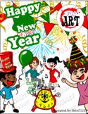 Happy New Year Clip-arts