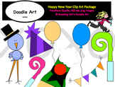 Happy New Year Clipart Pack