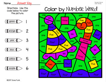 New Years Color By Number Word Worksheets January Morning Work