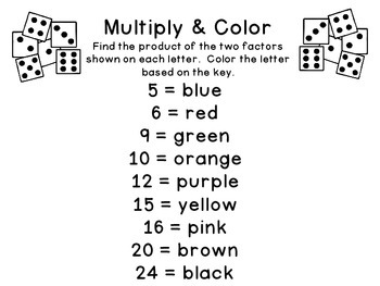 Happy New Year Coloring Sheet {Addition and Multiplication}