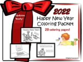 Happy New Year Coloring Sheets