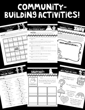 Happy New Year! Community Activities and MORE for Coming Back from Winter Break!