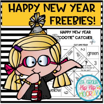 "Happy New Year ""Cootie"" Catcher...freebie!"