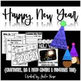 Happy New Year {Craftivities, ELA & Math Centers  and Prin