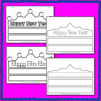 Happy New Year Crowns - An Early Learner Literacy Center
