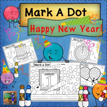 happy new year dot dauber set