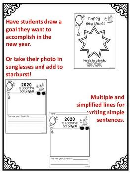 Happy New Year! FREEBIE New Year Writing