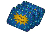 Happy New Year Gift Tag or Label