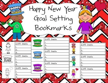 Happy New Year Goal Setting Bookmarks