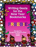 Happy New Year Goals Writing Bookmark Freebie