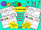 Happy New Year Goals for 2017! Great goal setting activity for students!