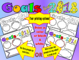 Happy New Year Goals for 2018! Great goal setting activity for students!
