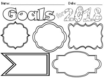Happy New School Year Goals for 2018! Great goal setting activity for students!