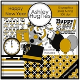 Happy New Year Clipart {A Hughes Design}