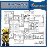 Happy New Year! Kindergarten Math & Literacy Worksheets -