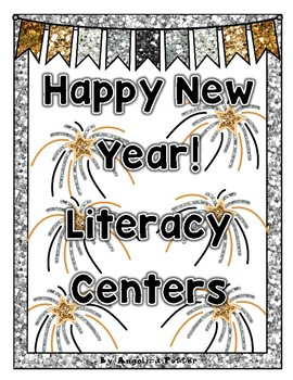 Happy New Year Literacy Centers and Book of Facts