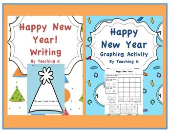 Happy New Year Literacy & Math Bundle for K-1