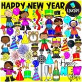 Happy New Year Clip Art Bundle {Educlips Clipart}