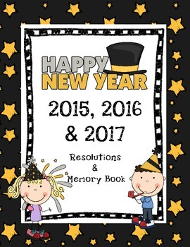 Printable Happy New Year Memory & Resolutions Book 2015, 2