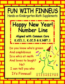 Happy New Year! Number Line   K.CC1, K.CC5 &  K.NBT1
