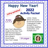 Happy New Year Packet 2019 Edition (GRADES 2, 3, 4, 5)