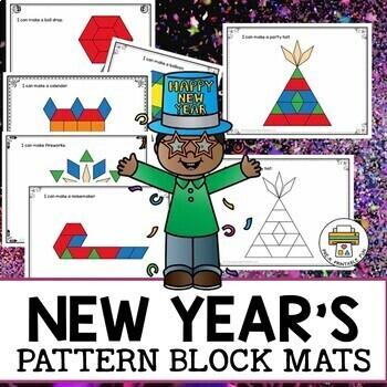 Happy New Year Pattern Block Mats