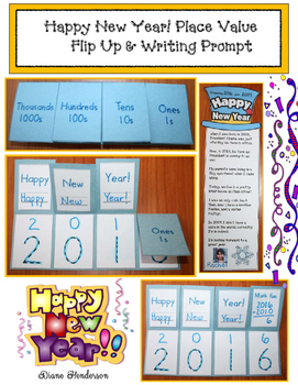 Happy New Year! Place Value Flip Up & Writing Prompts