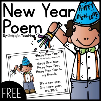Happy New Year Poem by Recipe for Teaching | Teachers Pay Teachers