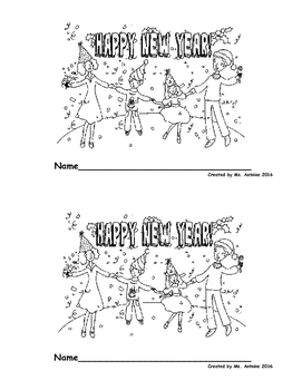 Happy New Year Printable Reader