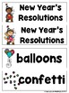 Happy New Year (Reader,Teacher Lap Book, Vocabulary, Writing Activities, & Game)